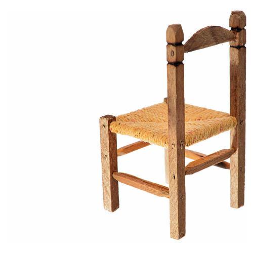 Sedia impagliata presepe in legno 7,5x4x4 2