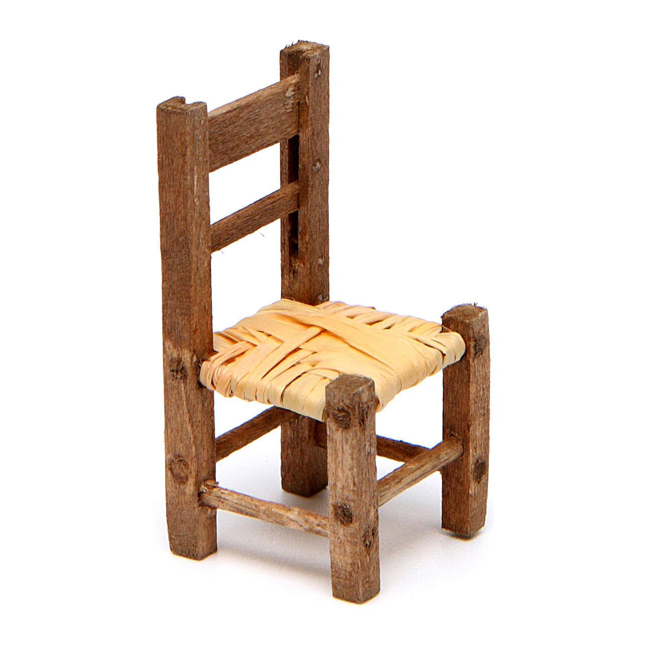 Silla belén empajada de madera 3,5x2x2 cm 4