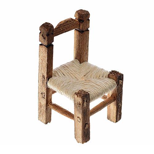 Sedia presepe impagliata in legno 3,5x2x2 cm 1