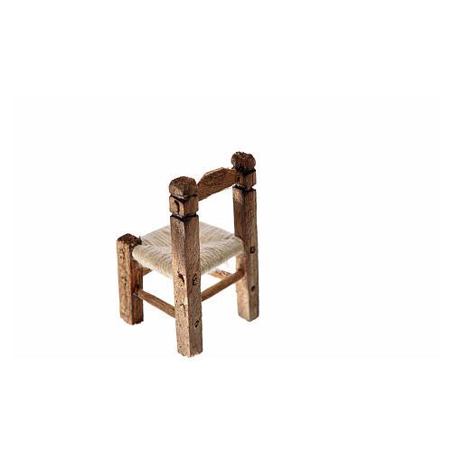 Sedia presepe impagliata in legno 3,5x2x2 cm 2