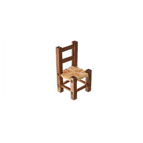 Nativity accessory, straw chair 3.2x1.5x1.5cm 3
