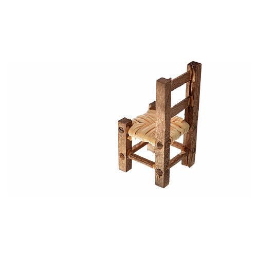 Nativity accessory, straw chair 3.2x1.5x1.5cm 2