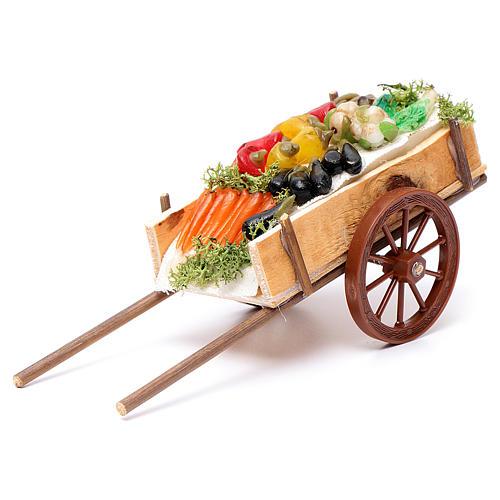Carretto napoletano ortaggi frutta cera dim. 6x15x6 cm 1