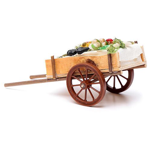 Carretto napoletano ortaggi frutta cera dim. 6x15x6 cm 3
