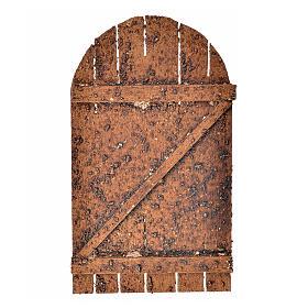 Porte à arc pour crèche 12x7 cm s1