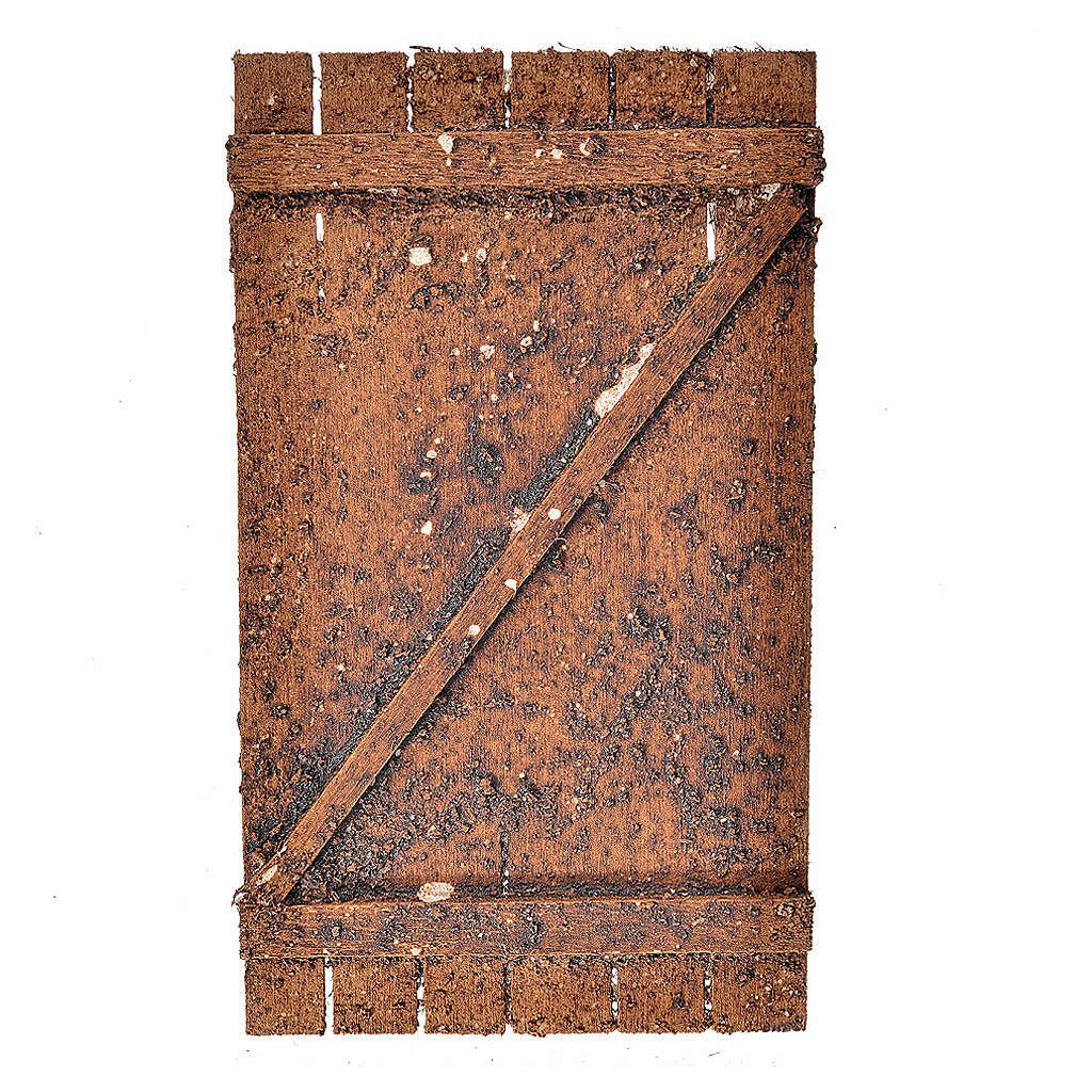 Nativity accessory, wooden door 12x7cm 4