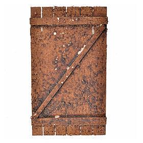 Nativity accessory, wooden door 12x7cm s1