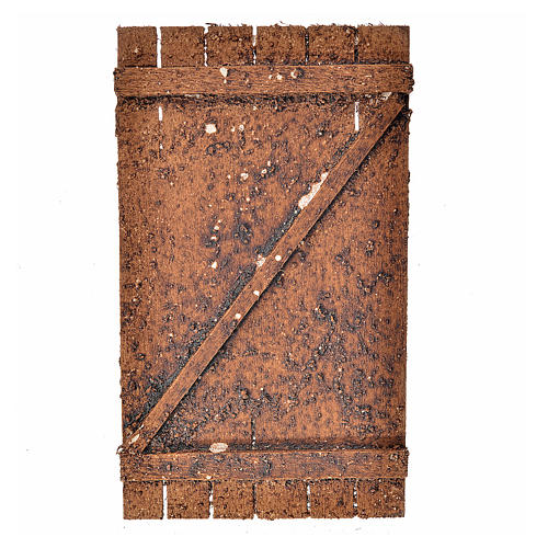 Nativity accessory, wooden door 12x7cm 1