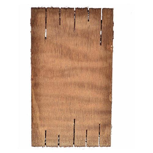 Nativity accessory, wooden door 12x7cm 2
