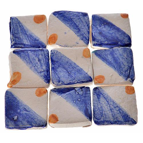 Azulejos de terracota esmaltada azul y amarillo, 60pz 1
