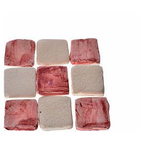 Mini-carreaux bordeaux pour crèche 60 pcs terre cuite s2