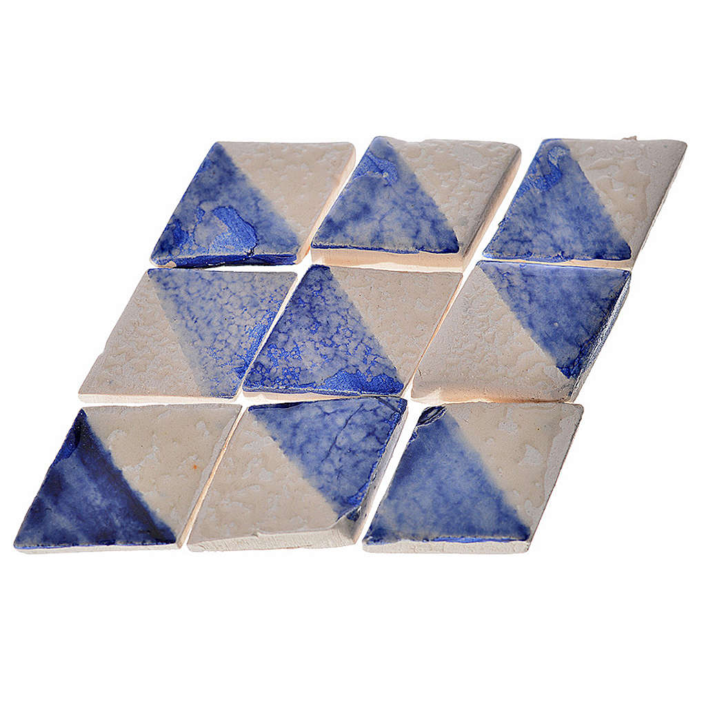Nativity accessory, enamelled terracotta tiles, diamond, 60pcs, 4