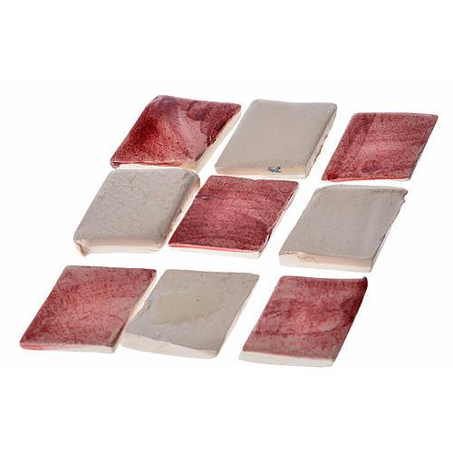 Mattonelle terracotta smaltate 60 pz romboidali bordeaux per pre 1