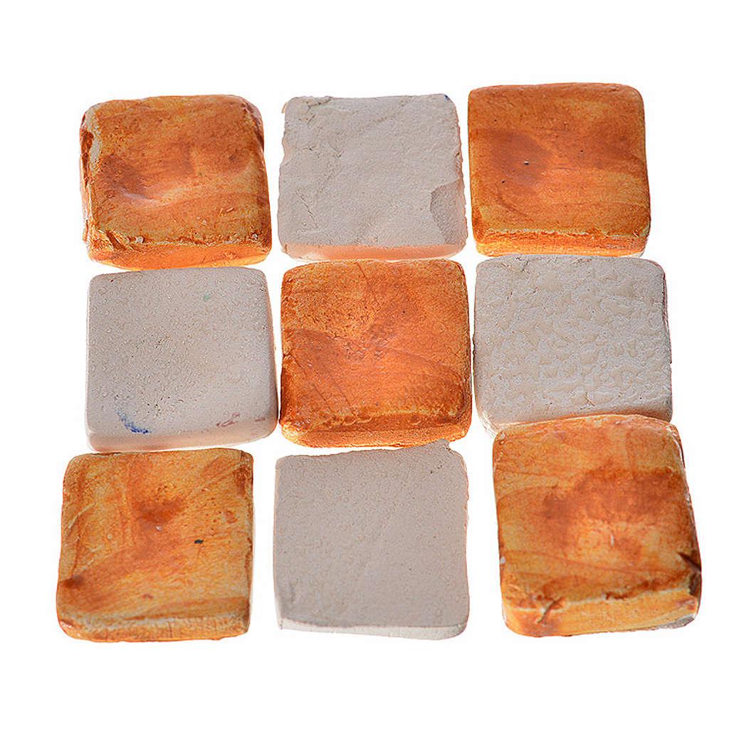 Mattonelle terracotta smaltate 60 pz color mattone per presepe 4