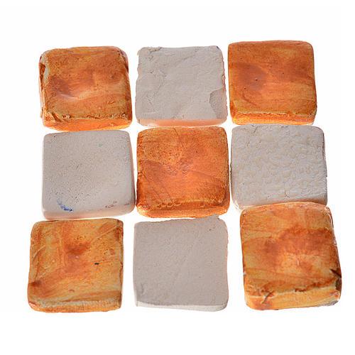 Mattonelle terracotta smaltate 60 pz color mattone per presepe 1