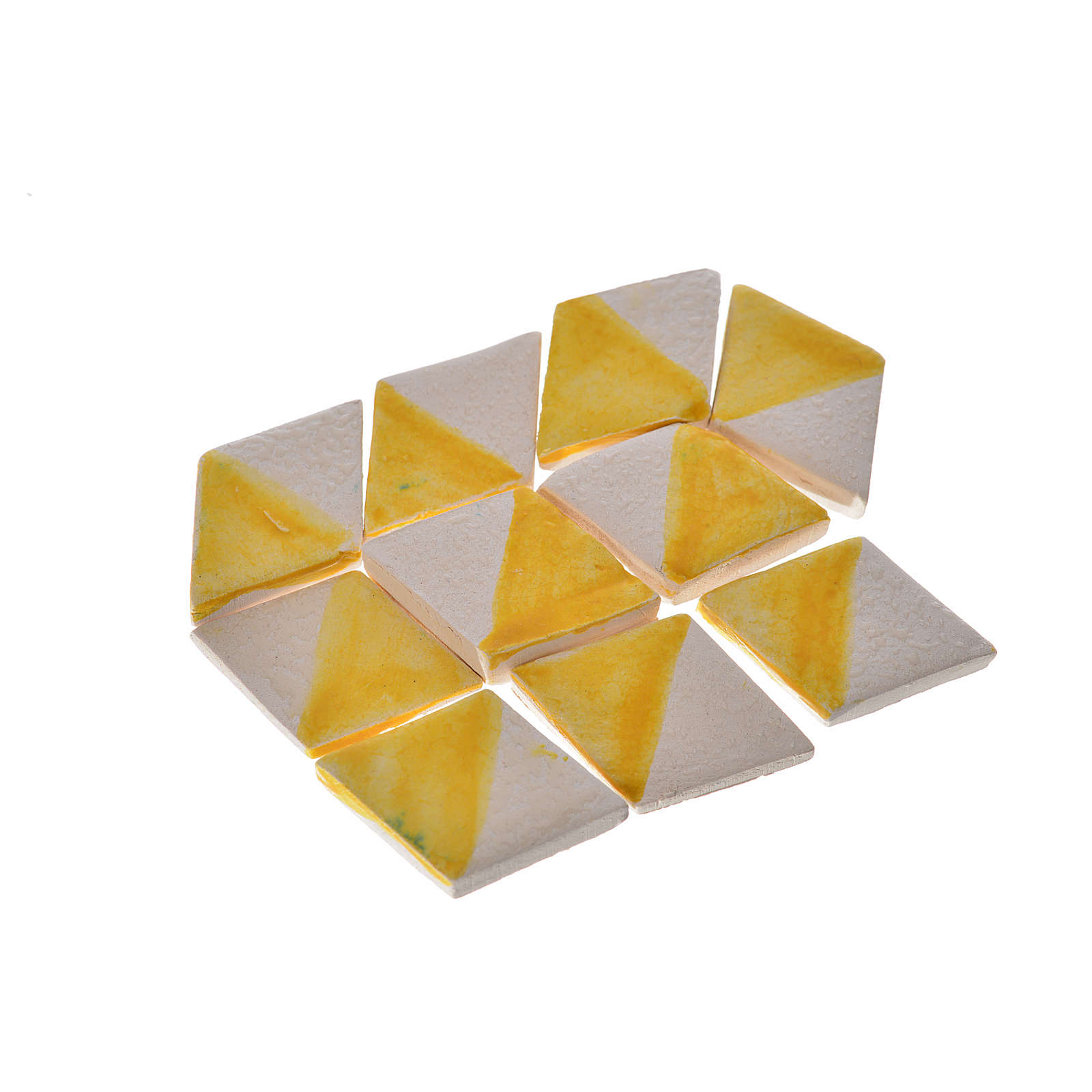 Mattonelle terracotta smaltate 60 pz romboidali gialle per prese 4