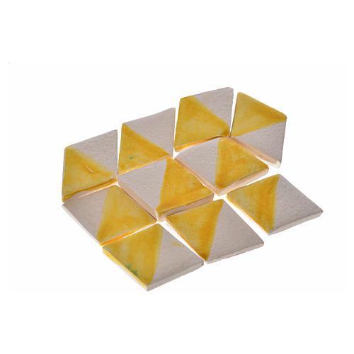 Nativity accessory, terracotta diamond tiles with enamel 60pcs, 1