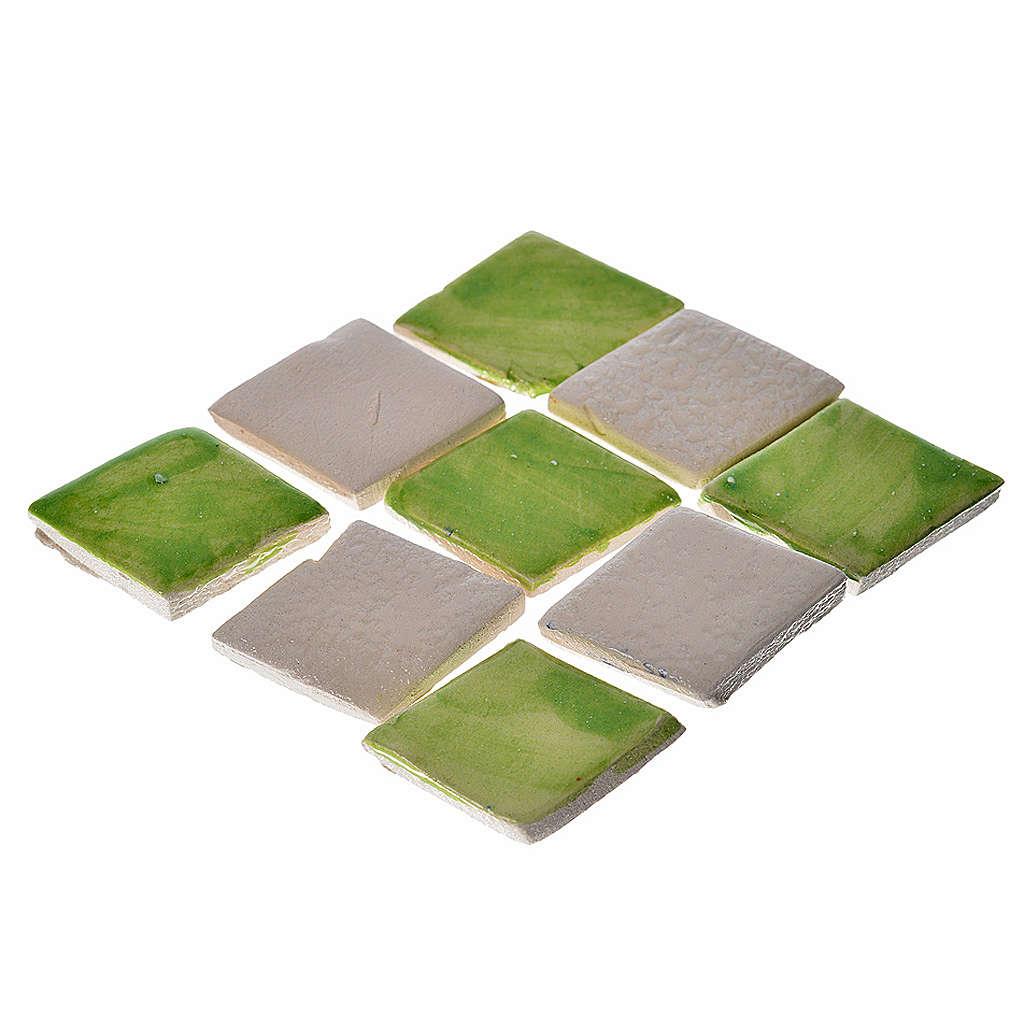 Azulejos de terracota esmaltada, 60 piezas, verdes 4