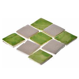 Azulejos de terracota esmaltada, 60 piezas, verdes s1