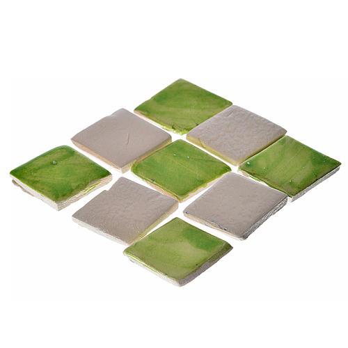 Azulejos de terracota esmaltada, 60 piezas, verdes 1