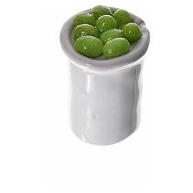 Gläschen aus Terrakotta mit Essen für Krippe s3