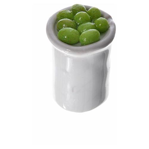 Gläschen aus Terrakotta mit Essen für Krippe 3