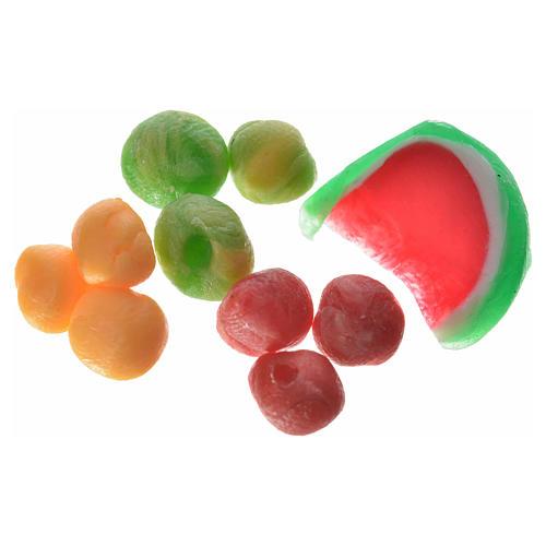 Fruta surtida en cera 3 piezas para el belén 1