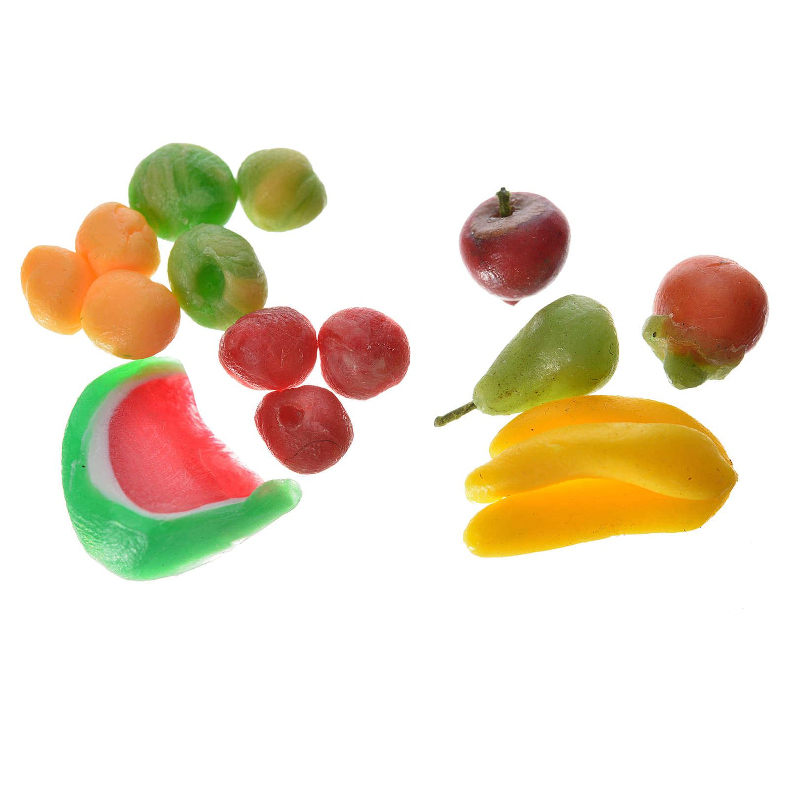 Frutta assortita in cera 3pz per presepe 4