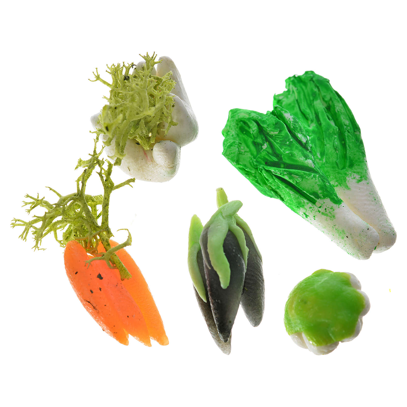 Nativity accessory, assorted vegetable, 3pcs in wax 4