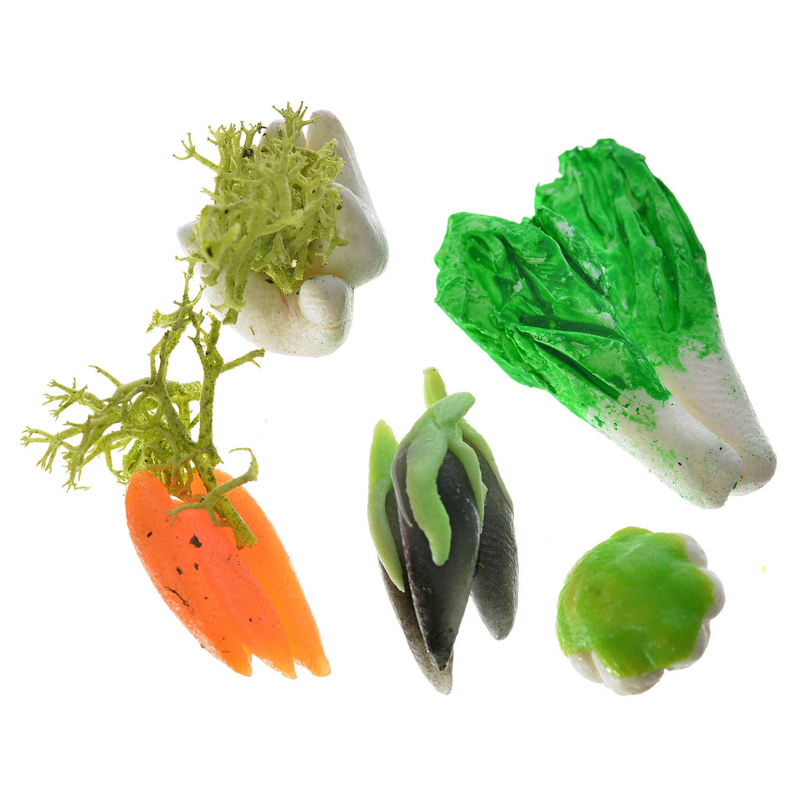 Legumes 3 peças em cera para presépio 4