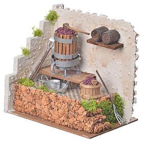 Prasa winogrona i pompa 20x14 wysokość 20 cm s2