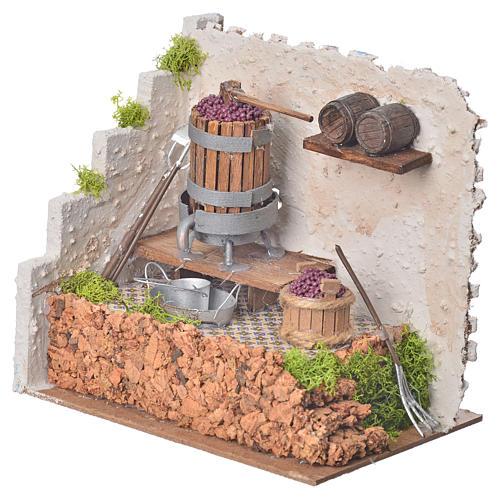 Prasa winogrona i pompa 20x14 wysokość 20 cm 2