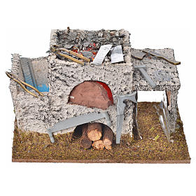 Fireplaces and ovens: Nativity accessory, forge with 2 flickering LED lights
