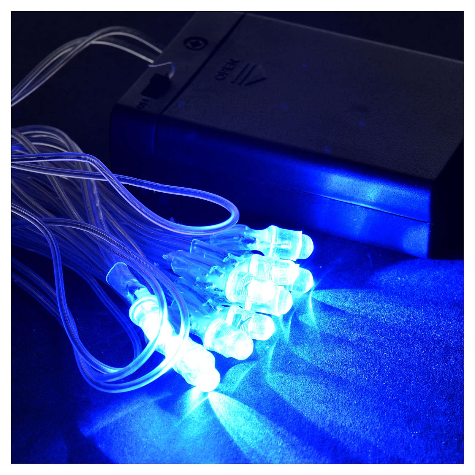 Serie 10 luci Led blu a batterie 4