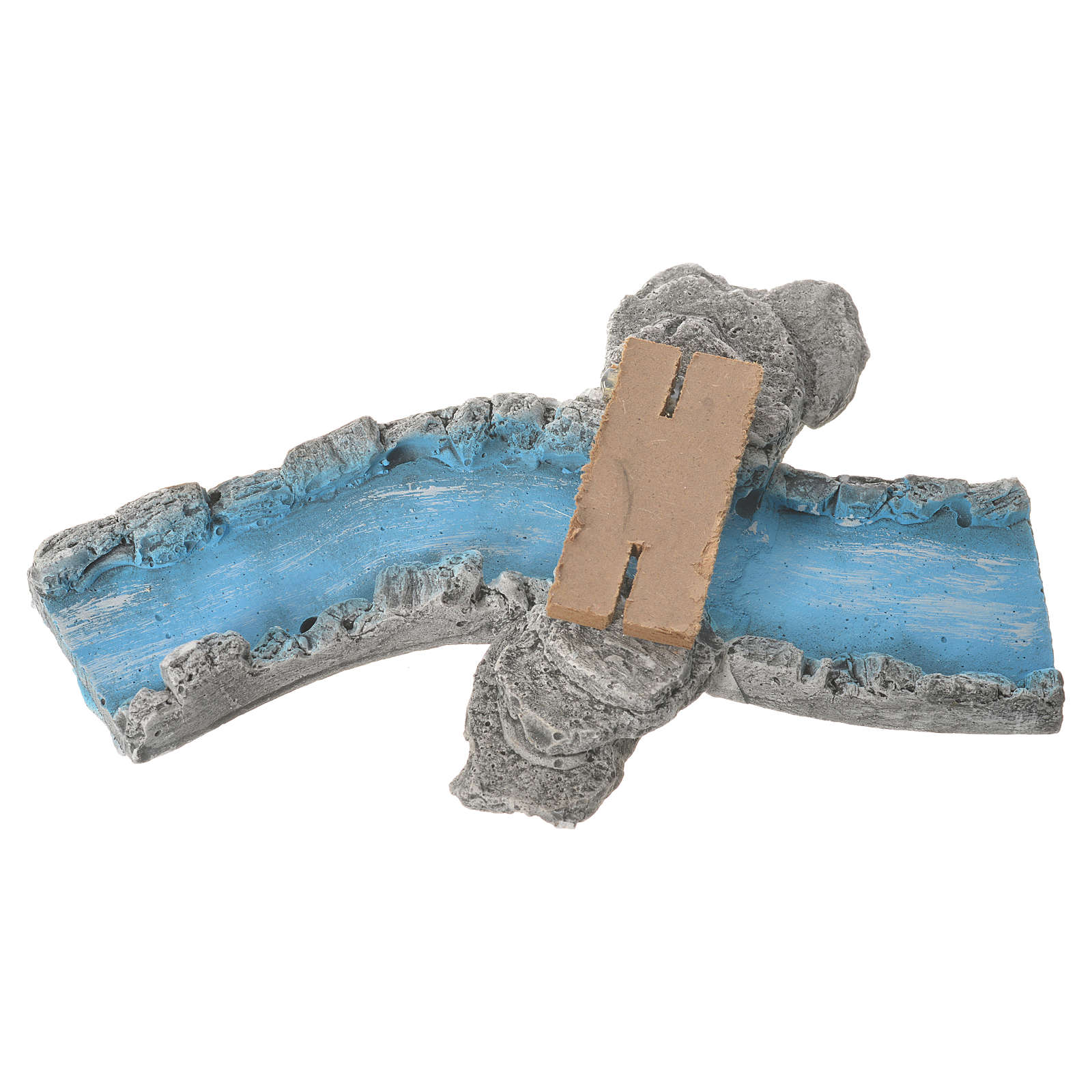 Nativity setting, river parts in plaster 4 pcs 4