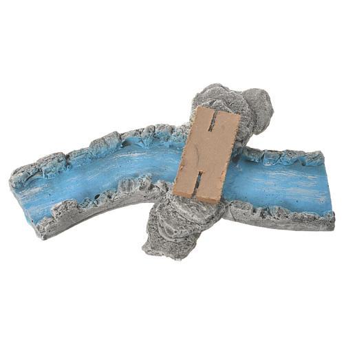 Nativity setting, river parts in plaster 4 pcs 2