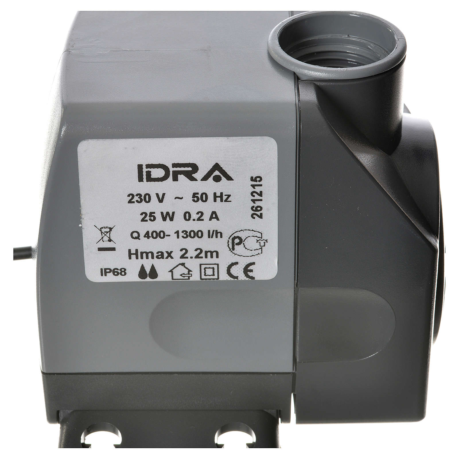 Water pump for nativities, IDRA 400-1300 litres/hour 25W 4