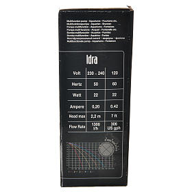 Bomba de Agua Belén 400-1300 litros/horas 25 w modelo IDRA s8