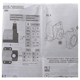 Pompe à eau crèche Idra réglable 400-1300l/h 25W s7