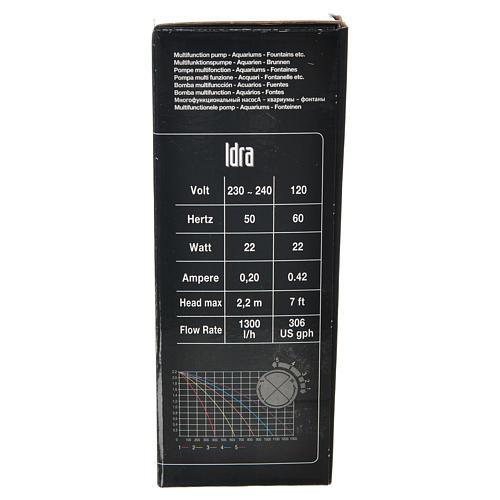 Pompe à eau crèche Idra réglable 400-1300l/h 25W 8