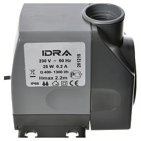 Water pump for nativities, IDRA 400-1300 litres/hour 25W s5