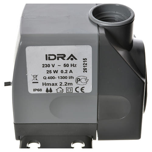 Water pump for nativities, IDRA 400-1300 litres/hour 25W 5