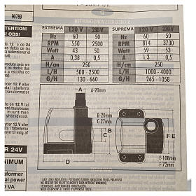 Pompe à eau crèche Extrema réglable 500-2500l/h 35W s6