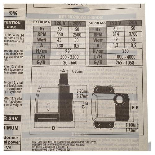 Pompe à eau crèche Extrema réglable 500-2500l/h 35W 6