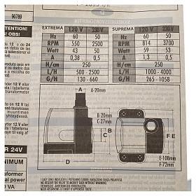 Pompa wodna szopka EXTREMA 500-2500l/h 35W s6