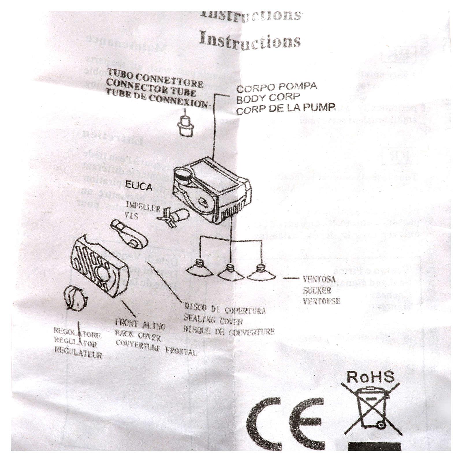 Wasserpumpe für Krippe, 280 l/h, 4 W 4
