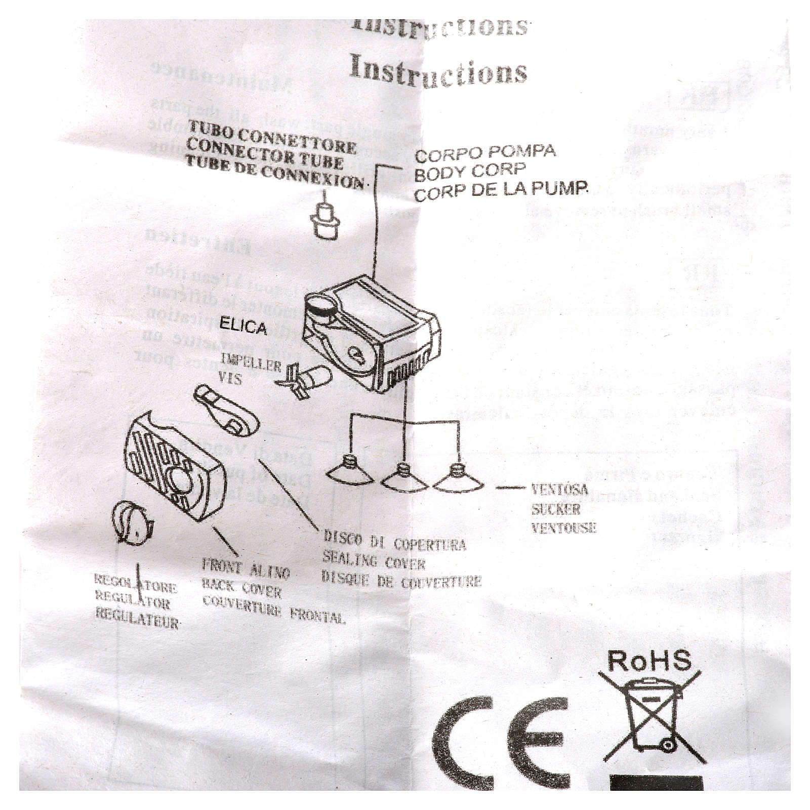 Bomba agua belén 4W 280 litros/hora 4