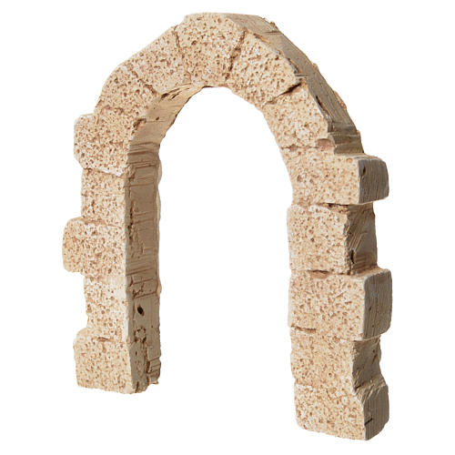 Arch door in plaster for nativities, 11x10cm 2