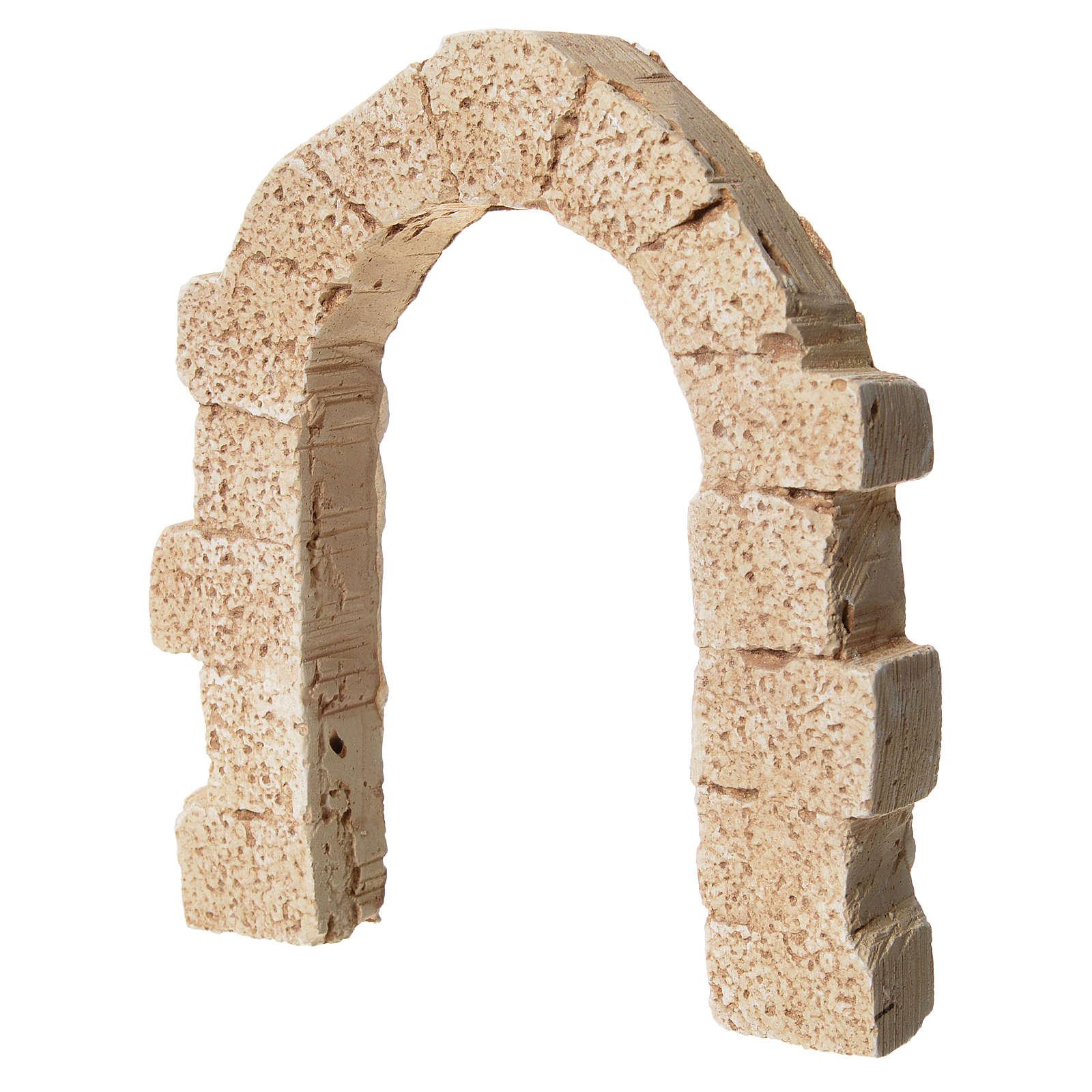 Porta arco in gesso per presepe 11x10 cm 4