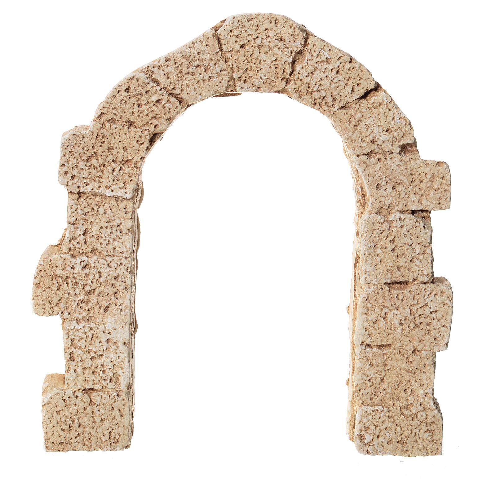 Porta arco em gesso para presépio 11x10 cm 4